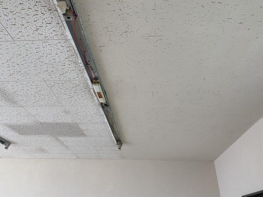 【開店へ向けて改装中】2020.7.8|壁紙塗装 + 天井塗装