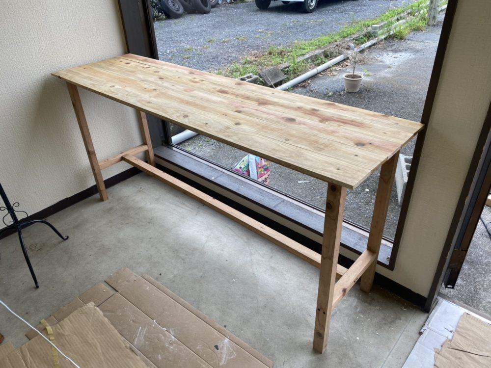 【開店へ向けて改装中】2020-8-21|以前作った机の改良